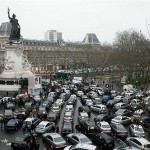 taxi strike paris 1